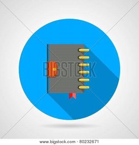 Flat icon for ring organizer