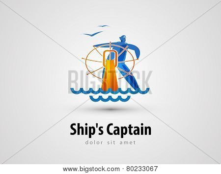 ship vector logo design template. sailor or cruise icon