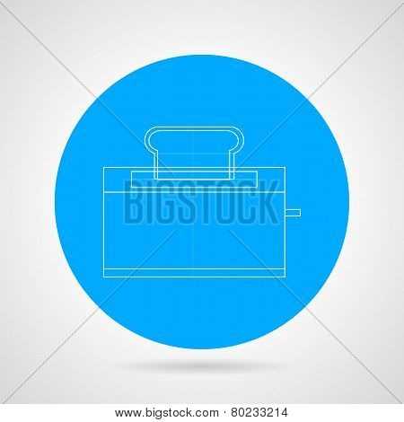Outline vector icon for toaster