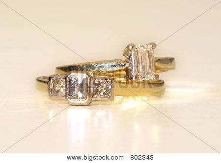 Diamond ring pair