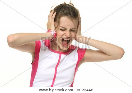 Teenage Girl In Very Bad Mood
