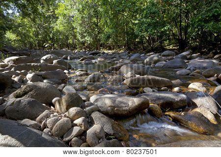 Water and rocks in Finch Hatton gorge, Queensland,Australia