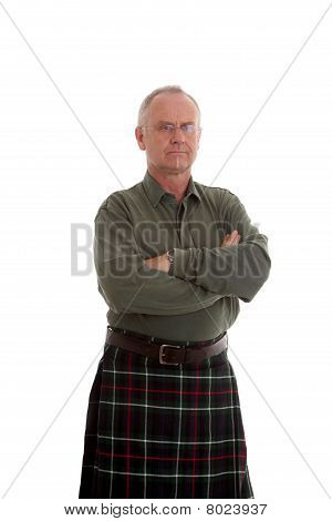 Casually Dressed But Serious Scotsman