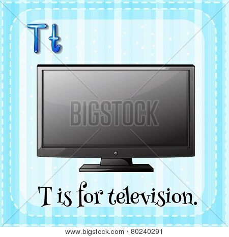A letter T for television