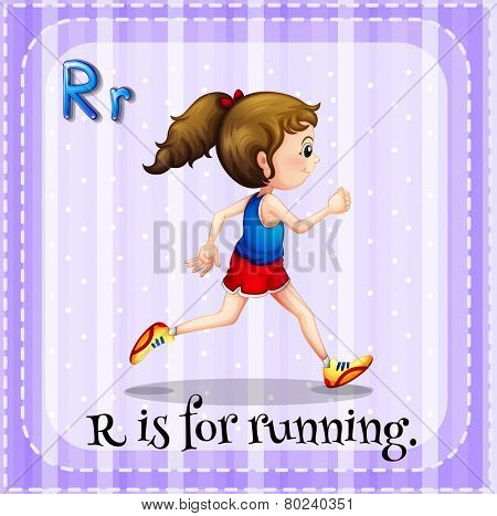 A letter R for running