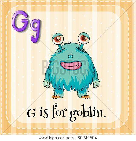 A letter G for goblin