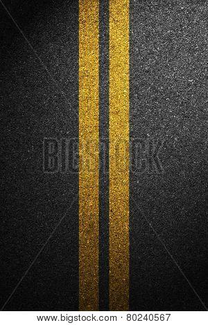 Road asphalt texture with separation lines