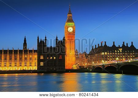 London Big Ben at night