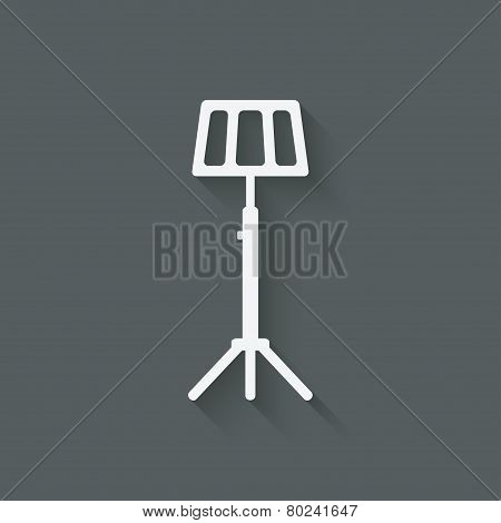 music stand symbol