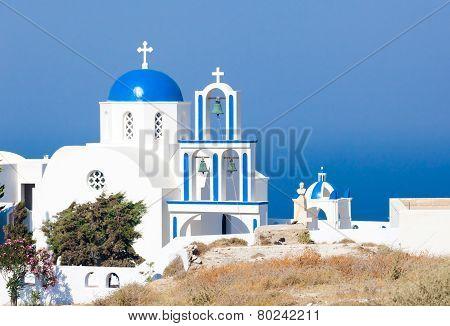 Santorini, Church With Blue Cupola