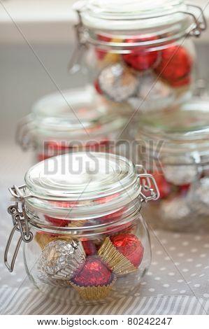 Home Made Pralines In Jar