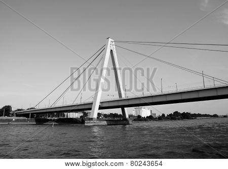 Severinsbruecke Spans The Rhine In Cologne
