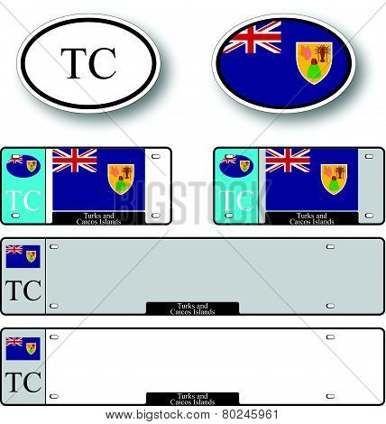 Turks And Caicos Islands Auto Set