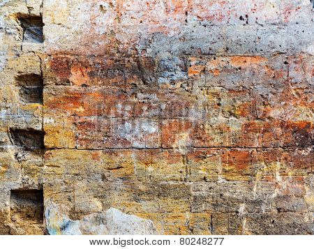 Old Grunge Brick Wall Background