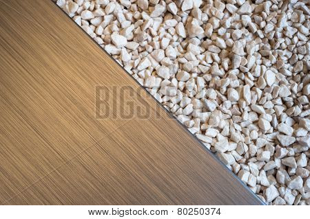 brushed metal stone pebbles abstract