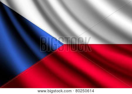 Waving flag of Czech Republic, vector