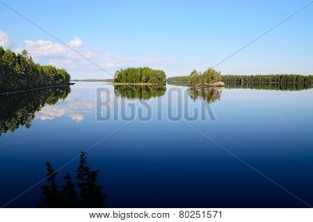 Morning Silence. Lake Engozero, North Karelia, Russia