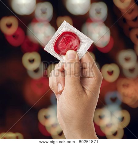 Hand With Condom