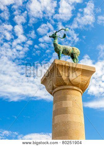Rhodes Deer Statue