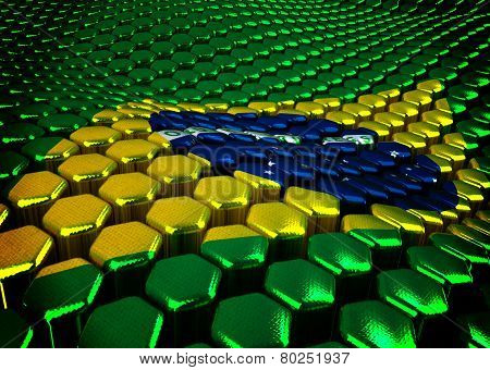Brasilian background  theme - 3D render