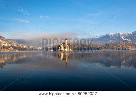 Morning idylle at lake Bled