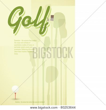 Golf Tees. Vector. Golf Ball On Tee