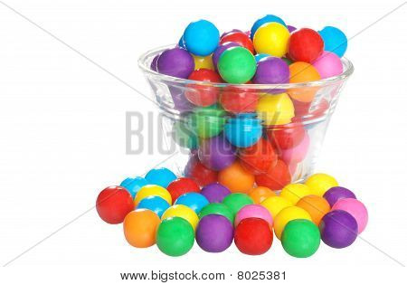 bubble gum in a bowl