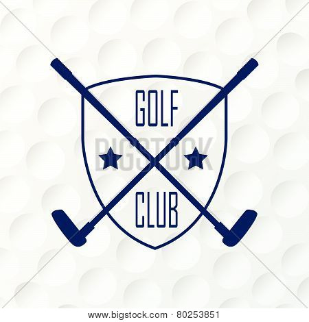 Emblems For Golf Emblems For Golf With The Label Of Golf Clubs. Retro Label Design & Ball.