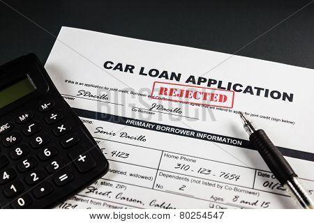 Car Loan Application Rejected 006