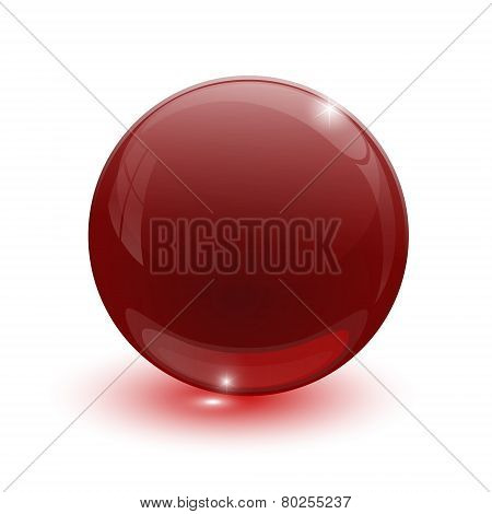 Ruby Glassy Ball