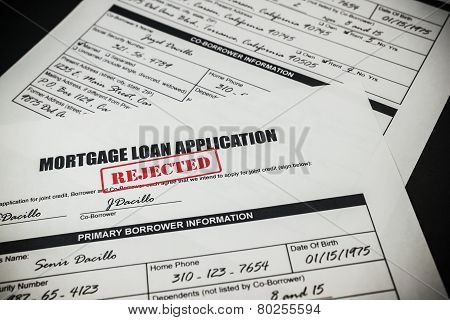 Mortgage Loan Application Rejected 008
