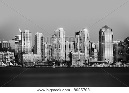San Diego In Black And White