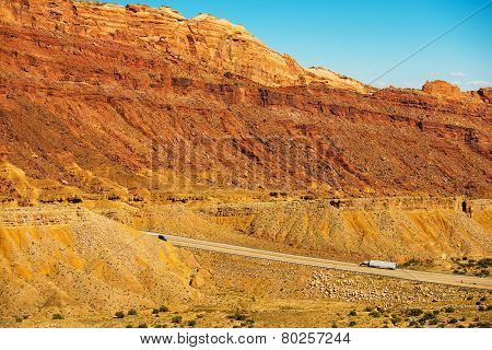 Trucks On The Utah Highway