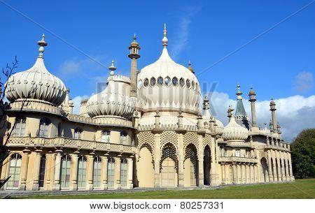 Summer Sunshine On Towers Of The Royal Brighton Pavilion.