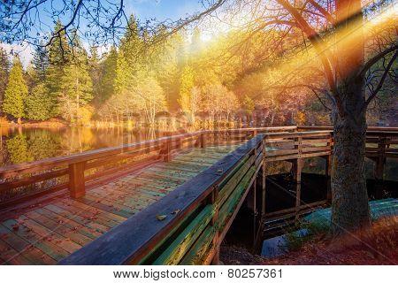 Wooden Lake Deck