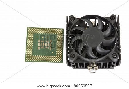 The Cooling Fan With Heatsink And Cp