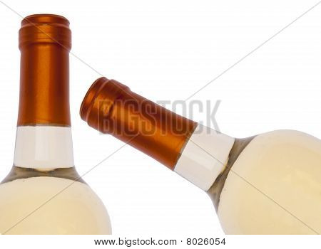 White Wine Bottle Border