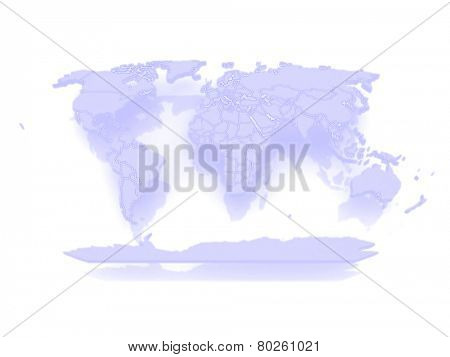 Map of the world. 3d
