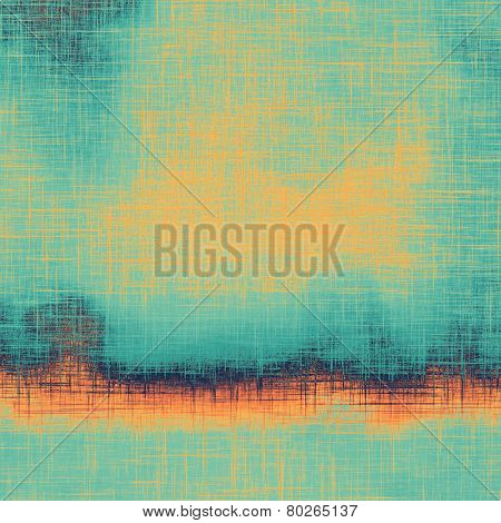 Designed grunge texture or background. With different color patterns: yellow (beige); blue; cyan