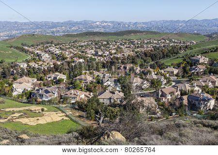 Suburban valley community of Simi Valley near Los Angeles, California.