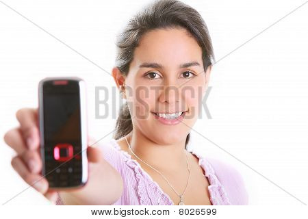 Girl And Cell Phone