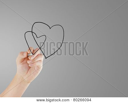 hand drawing chart heartbeat