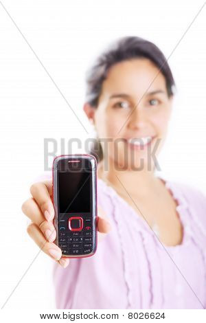 Girl And Phone