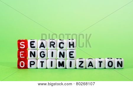 Seo Search Engine Optimization On Green