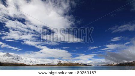 lake under sky