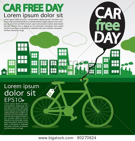 September 22nd World Car Free Day Ecology Conceptual.