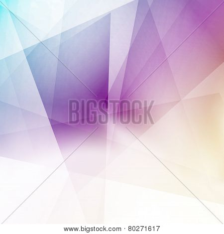 Modern Triangular Structure Crystal Background