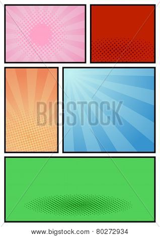 Comic Book Page Pop Art Template