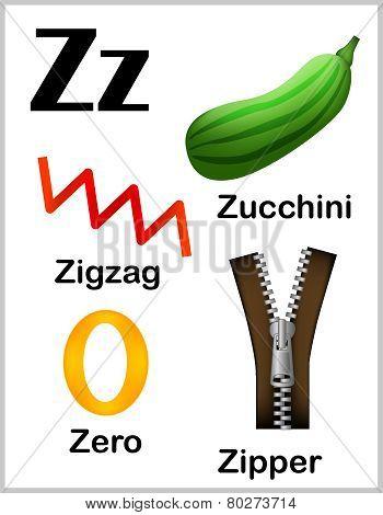 Alphabet Letter Z Pictures