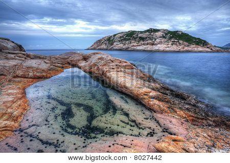 Shek o coast in Hong Kong